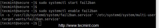 Enable Fail2ban Firewalld