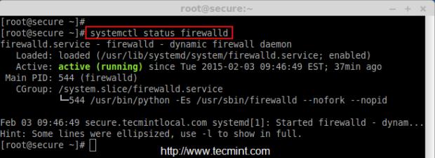 Firewalld Status Check