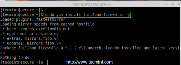 Install Fail2ban Firewalld