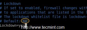 Lock Down Firewalld Rules